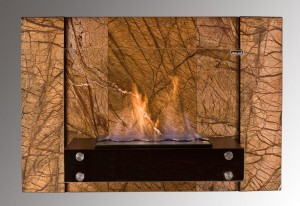 Biokominek FUEGO FOREST BROWN  910x604 mm