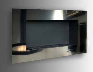 Biokominek ACARA SLIM INOX MIRROR 1180x604 mm